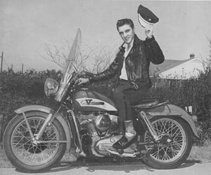 elvis, Elvis Presley, and harley image