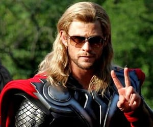 sunglasses, thor, and chris hemsworth image