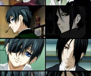 kuroshitsuji, black butler, and sebastian image