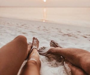 couple, destination, and feet image