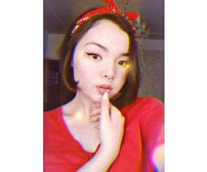 bandana, cats eyes, and red bandana image