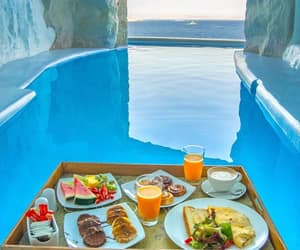 blue, traveling, and breakfast image