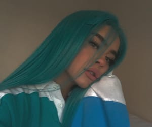 girl and blue image