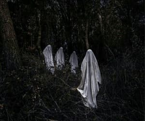 creepy, ghost, and sheets image