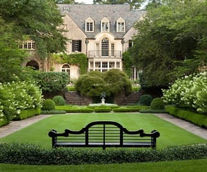 garden, house, and beautiful image