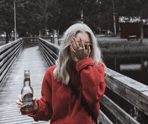 blonde, cider, and fashion image