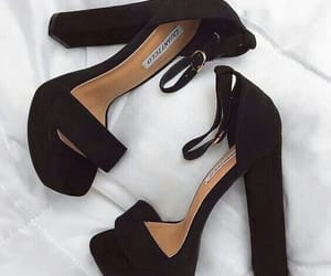 black, heels, and highheels image