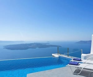 Greece, pool, and sea image