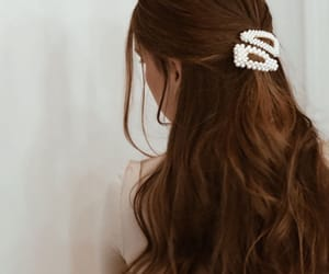 barrettes, curly, and hair clips image