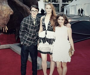 sophie turner, maisie williams, and isaac hempstead wright image