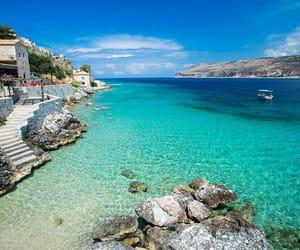 blue, Greece, and mani image