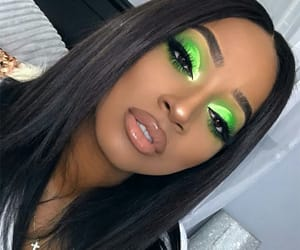 beauty, eyeshadow, and green image