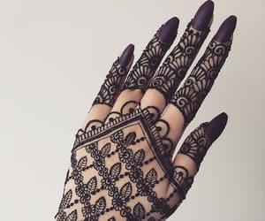 hand, nails, and henna image