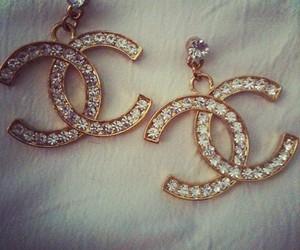 chanel, diamond, and earrings image