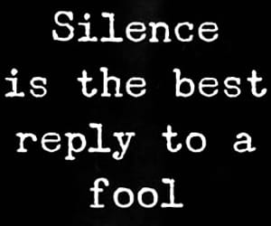 fool, silence, and silenzio image