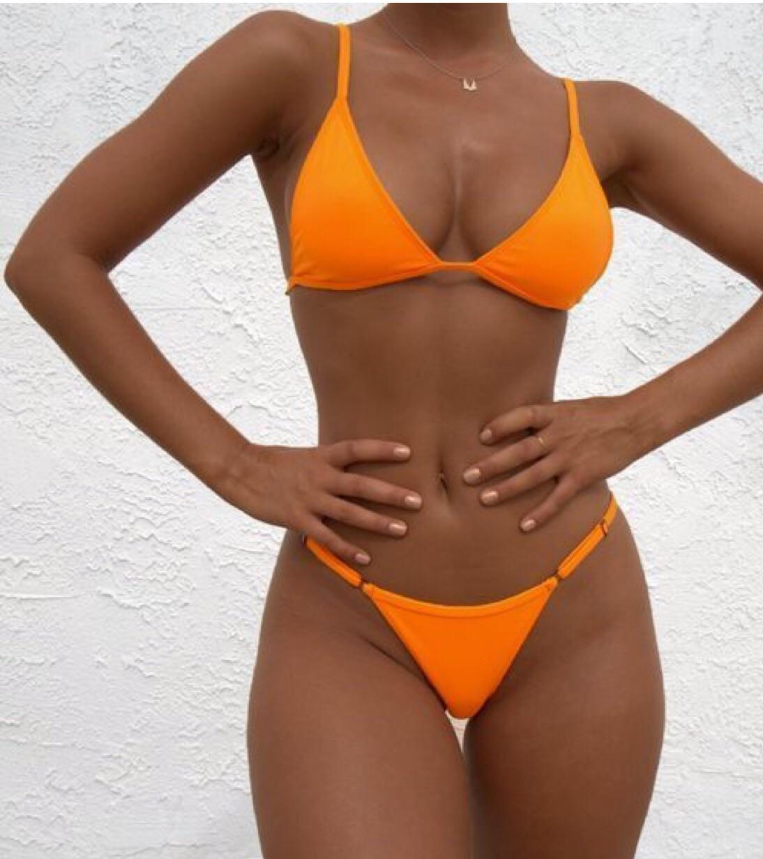 body, girl, and orange image