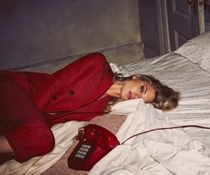 bed, call, and girl image