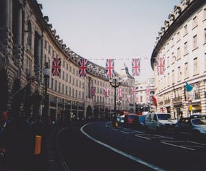 london, vintage, and flag image