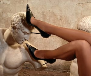 aesthetic, shoes, and statue image