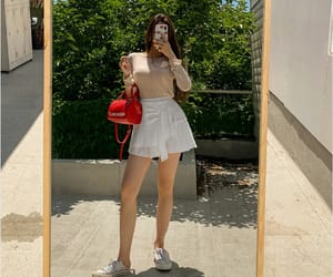 kfashion, korean fashion, and outfit image