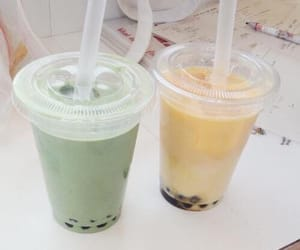 drink, green, and pastel image