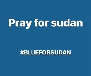 blue, peace, and Sudan image