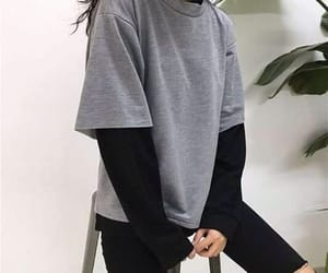 girl, grey, and style image
