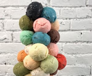 ice cream, colors, and food image