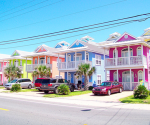 house, colors, and pink image