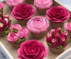 rose, cake, and cupcake image