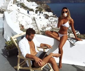 couple, summer, and Greece image