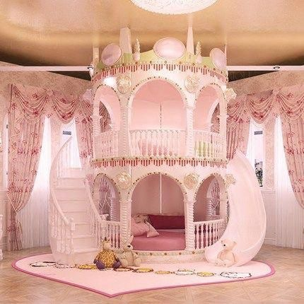 Acheter Chambre Princesse Fille Enfants De Diapositives Lit ...
