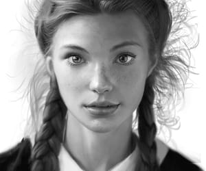braids, portrait, and girl image