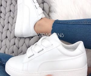 basket, Blanc, and chaussures image