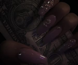 nails, money, and pink image