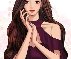 makeup, true beauty, and webtoon image