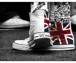 black and white, photographer, and union jack image