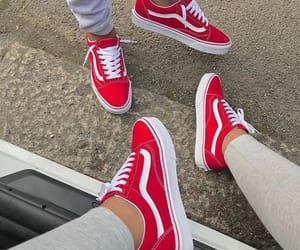 red, sneakers, and style image