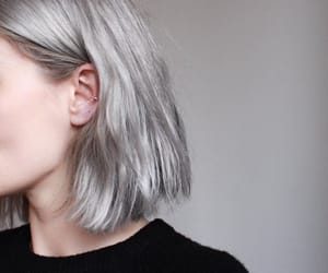 girl, grey, and hair image