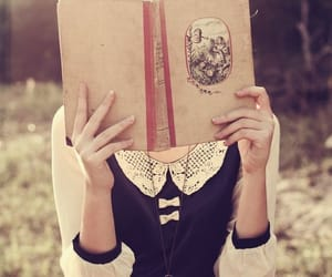 book, girl, and vintage image