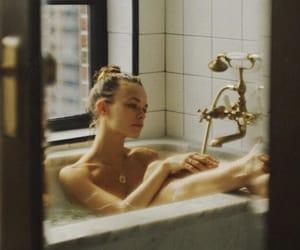 bathroom, girl, and beauty image