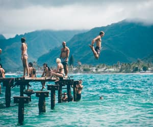 adventure, swimming, and travel image