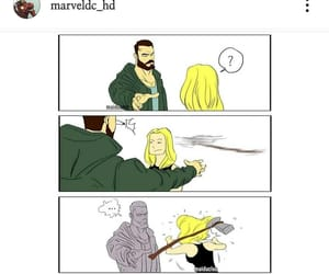 civil war, captain marvel, and thor image