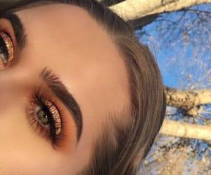 makeup and eyes image
