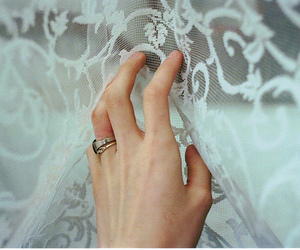 hand, girl, and lace image