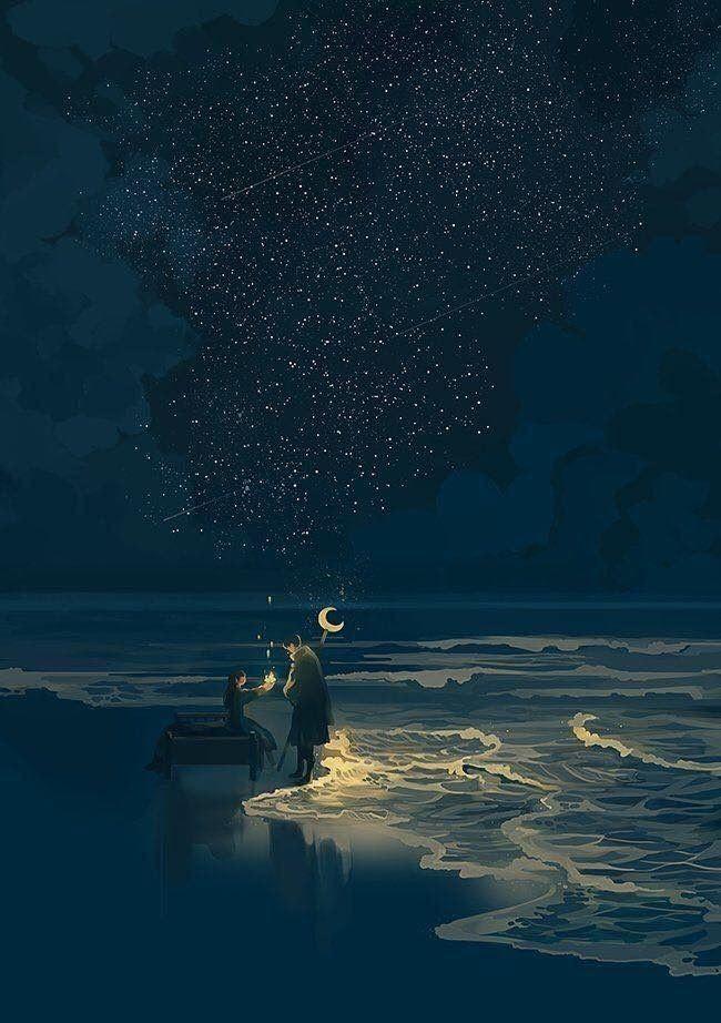 Image de art, illustration, and night