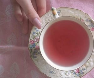 drink, pink, and tea image