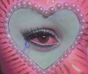art, pink, and creepy image