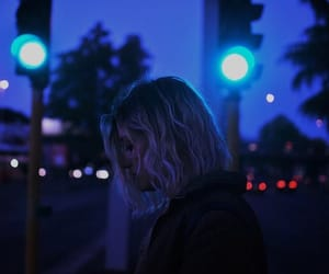 girl, blue, and night image