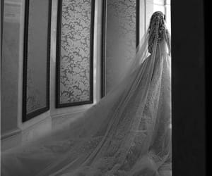 black and white and wedding image